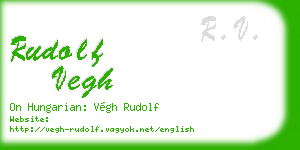 rudolf vegh business card